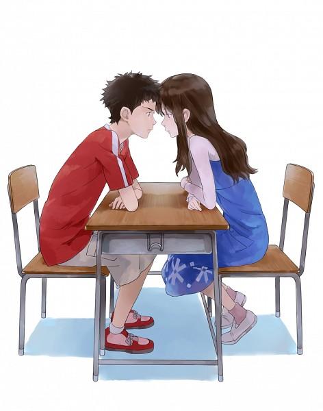 Tags: Anime, Habuki, Ookami Kodomo no Ame to Yuki, Souhei (Ookami Kodomo), Yuki (Ookami Kodomo), Fanart From Pixiv, Pixiv, Fanart, The Wolf Children Ame And Yuki