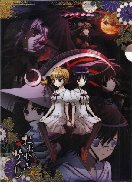 Tags: Anime, Ookamikakushi, Kushinada Nemuru, Asagiri Kaname, Tsumuhana Isuzu, Kuzumi Mana, Kuzumi Hiroshi, Scan, Official Art