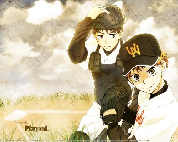 Tags: Anime, Ookiku Furikabutte, Abe Takaya, Ren Mihashi, Baseball Glove, Baseball, Baseball Uniform, Wallpaper, Big Windup!