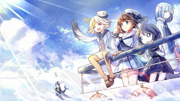 Tags: Anime, Bisonbison, Oounabara to Wadanohara, Fukami, Wadanohara, Dolphi, Memoca, Samekichi, HD Wallpaper, Pixiv, Facebook Cover, Wallpaper, Fanart, Wadanohara And The Great Blue Sea