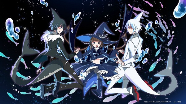 Tags: Anime, Pixiv Id 2198048, Oounabara to Wadanohara, Sal (Wadanohara), Samekichi, Wadanohara, Shark, Wallpaper, Facebook Cover, Wadanohara And The Great Blue Sea