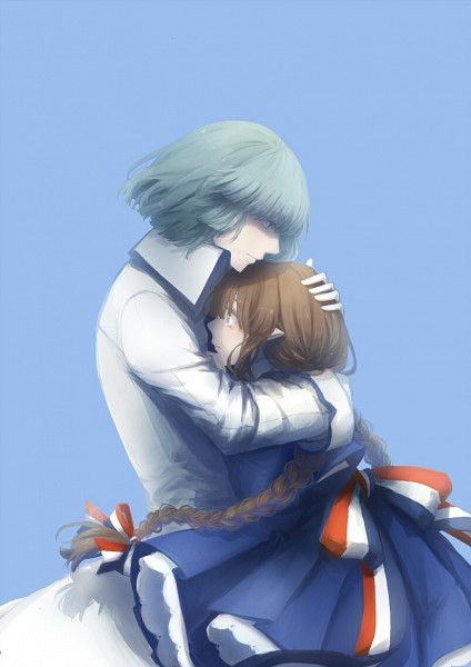 Tags: Anime, Pixiv Id 4106191, Oounabara to Wadanohara, Fukami, Wadanohara, Pageboy Haircut, Fanart From Pixiv, Pixiv, Fanart, Mobile Wallpaper, Wadanohara And The Great Blue Sea