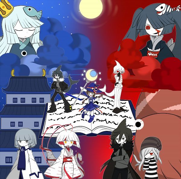 Tags: Anime, Pixiv Id 4258526, Oounabara to Wadanohara, Princess Uomi, Sal (Wadanohara), Tatsumiya (Wadanohara), Samekichi, Old (Wadanohara), Wadanohara, Princess Mikotsu, Fanart From Pixiv, Pixiv, Fanart, Wadanohara And The Great Blue Sea