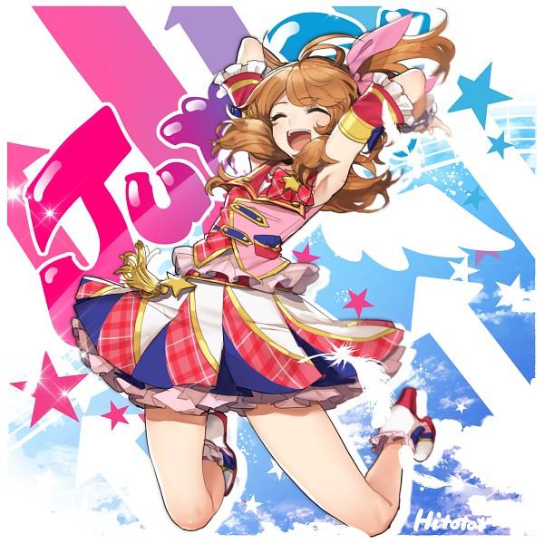 Tags: Anime, Hitoto, Aikatsu!, Oozora Akari, Striped Skirt, Fanart, Twitter, Akari Oozora