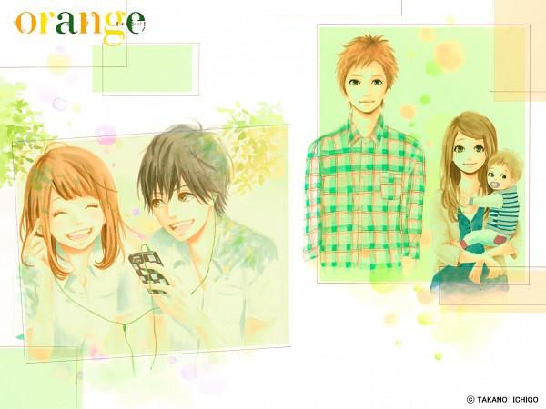 Tags: Anime, Takano Ichigo, Orange (Takano Ichigo), Naruse Kakeru, Takamiya Naho, Suwa Hiroto, Official Art