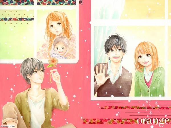 Tags: Anime, Takano Ichigo, Orange (Takano Ichigo), Naruse Kakeru, Takamiya Naho, Official Art