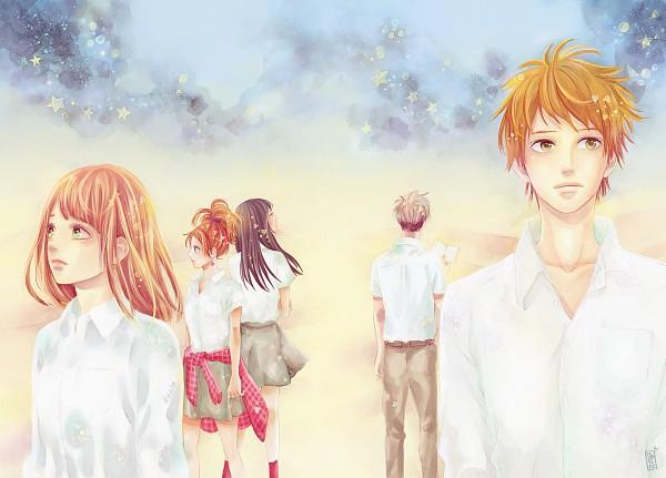 Tags: Anime, Katita-chan, Orange (Takano Ichigo), Chino Takako, Suwa Hiroto, Murasaka Azusa, Takamiya Naho, Hagita Saku, Colorization