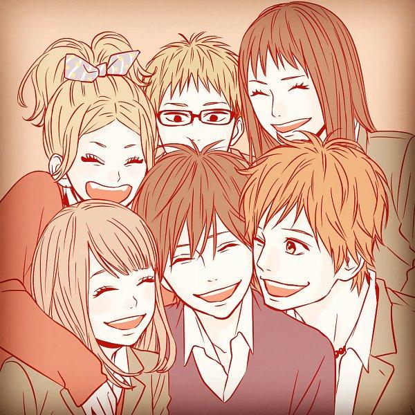 Tags: Anime, Takano Ichigo, Orange (Takano Ichigo), Takamiya Naho, Hagita Saku, Chino Takako, Suwa Hiroto, Naruse Kakeru, Murasaka Azusa, Official Art