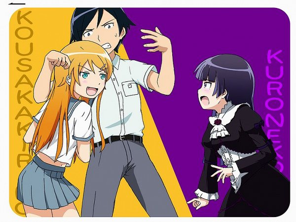 Tags: Anime, Pixiv Id 13732039, Ore no Imouto ga Konna ni Kawaii Wake ga Nai, Kousaka Kyousuke, Kousaka Kirino, Gokou Ruri, My Little Sister Can't Be This Cute