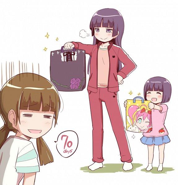 Tags: Anime, Herunin, Ore no Imouto ga Konna ni Kawaii Wake ga Nai, Gokou Hinata, Gokou Tamaki, Gokou Ruri, My Little Sister Can't Be This Cute