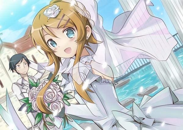 Tags: Anime, Mishima Kurone, Ore no Imouto ga Konna ni Kawaii Wake ga Nai, Kousaka Kirino, Kousaka Kyousuke, Church, Pixiv, My Little Sister Can't Be This Cute