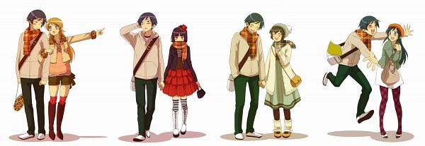 Tags: Anime, Mo (Ms7744), Ore no Imouto ga Konna ni Kawaii Wake ga Nai, Tamura Manami, Aragaki Ayase, Kousaka Kyousuke, Kousaka Kirino, Gokou Ruri, Twitter Header, My Little Sister Can't Be This Cute