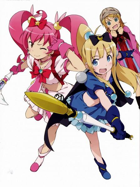 Tags: Anime, Kanzaki Hiro, Ore no Imouto ga Konna ni Kawaii Wake ga Nai, Kousaka Kirino, Bridget Evans, Kurusu Kanako, Alpha Omega (Cosplay), Meruru (Cosplay), Official Art, Scan, My Little Sister Can't Be This Cute