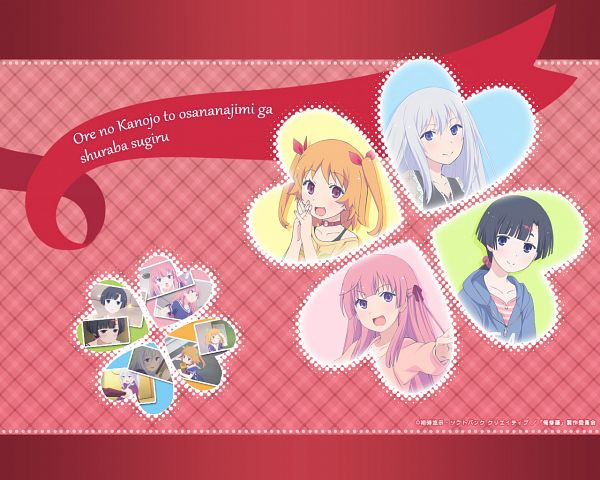 Tags: Anime, Ore no Kanojo to Osananajimi ga Shuraba Sugiru, Akishino Himeka, Natsukawa Masuzu, Fuyuumi Ai, Harusaki Chiwa, Official Wallpaper, Wallpaper, Official Art