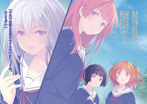 Tags: Anime, Ruroo, Ore no Kanojo to Osananajimi ga Shuraba Sugiru, Harusaki Chiwa, Akishino Himeka, Natsukawa Masuzu, Fuyuumi Ai, Novel Illustration, Official Art