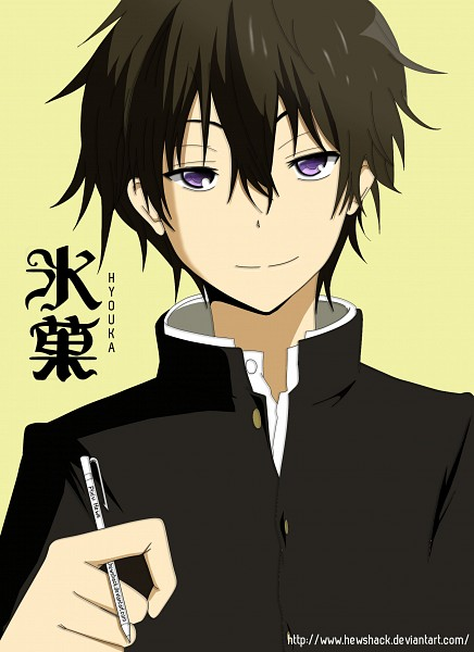Tags: Anime, hews, Hyouka, Oreki Houtarou, Mobile Wallpaper