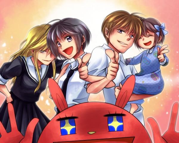 Tags: Anime, Pixiv Id 433167, Oresama Teacher, Usa-chan Man, Natsuo (Oresama Teacher), Kurosaki Mafuyu, Fanart From Pixiv, Pixiv, Fanart