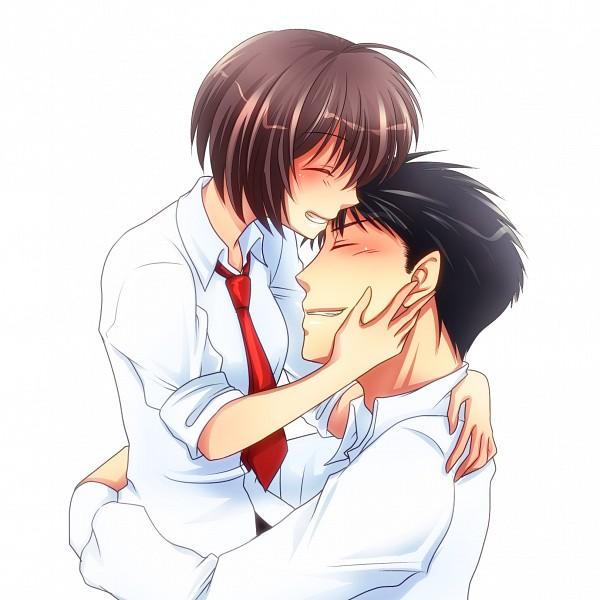 Tags: Anime, Pixiv Id 433167, Oresama Teacher, Saeki Takaomi, Kurosaki Mafuyu, Pixiv, Fanart, Fanart From Pixiv
