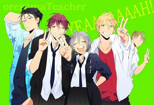 Tags: Anime, Pixiv Id 8269300, Oresama Teacher, Hayasaka (Oresama Teacher), Kurosaki Mafuyu, Shibuya Aki, Yui Shinobu, Okegawa Kyoutarou, Pixiv