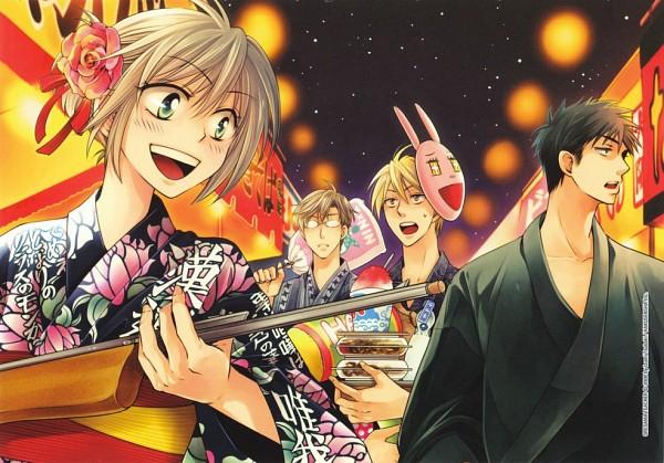 Tags: Anime, Oresama Teacher, Yui Shinobu, Saeki Takaomi, Hayasaka (Oresama Teacher), Kurosaki Mafuyu, Colorization