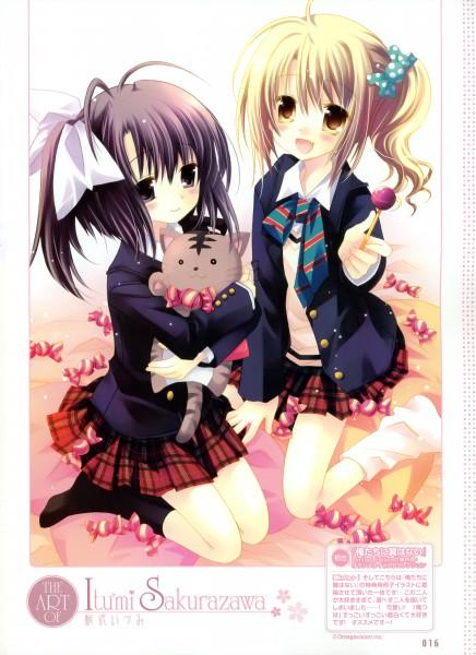 Tags: Anime, Sakurazawa Izumi, Navel (Studio), Dengeki Moeoh 2010-06, Oretachi ni Tsubasa wa Nai, Kouda Ai, Ootori Naru, Bonbon, Mobile Wallpaper, Dengeki Moeoh, We Without Wings