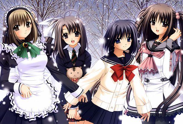 Tags: Anime, Nishimata Aoi, Vivid, Oretachi ni Tsubasa wa Nai, Tamaizumi Hiyoko, Watari Asuka, Ootori Naru, Haneda Kobato, Official Art, Scan, We Without Wings