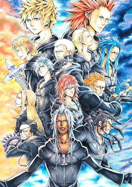Tags: Anime, Pixiv Id 3099070, Kingdom Hearts, Kingdom Hearts II, Kingdom Hearts 358/2 Days, Larxene, Xigbar, Roxas, Luxord, Saïx, Zexion, Demyx, Axel (Kingdom Hearts)