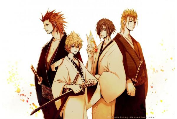 Tags: Anime, Illbewaiting, Kingdom Hearts, Kingdom Hearts II, Kingdom Hearts 358/2 Days, Axel (Kingdom Hearts), Zexion, Roxas, Demyx, Fanart, deviantART, Organization XIII