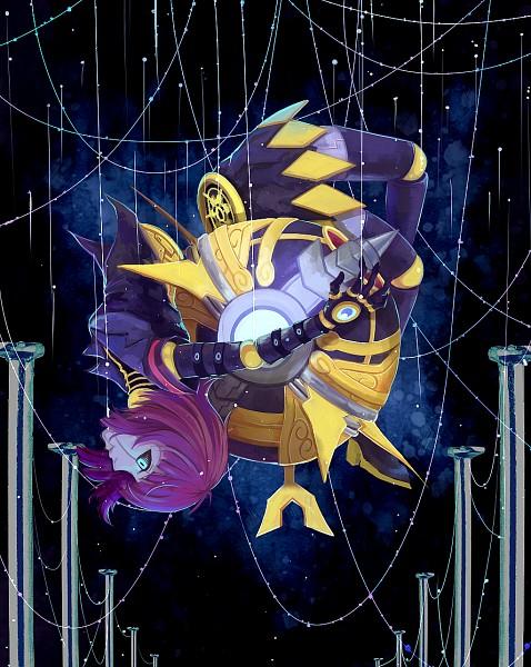 Tags: Anime, Pixiv Id 862996, League of Legends, Orianna, Galaxy, Mobile Wallpaper, Pixiv, Fanart