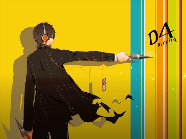 Tags: Anime, Pixiv Id 2954148, DURARARA!!, Orihara Izaya, Shin Megami Tensei: PERSONA 4 (Parody), iPod, Persona (Parody), Fanart, Fanart From Pixiv, Pixiv, Izaya Orihara