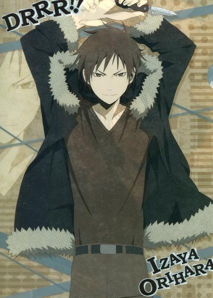 Tags: Anime, DURARARA!!, Orihara Izaya, Mobile Wallpaper, Official Art, Scan, Izaya Orihara