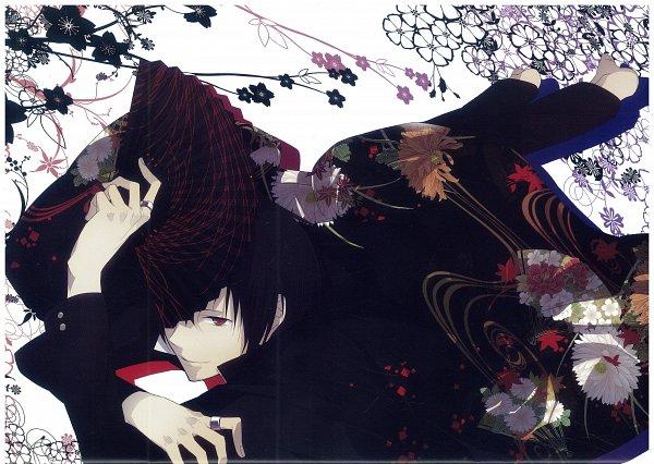 Tags: Anime, ryugo, DURARARA!!, Bumblebee - Hummel Color Illustrations, Orihara Izaya, Self Scanned, Scan, Izaya Orihara