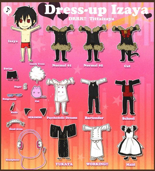 Tags: Anime, DURARARA!!, Orihara Izaya, Paper Dolls, Bartender, Izaya Orihara