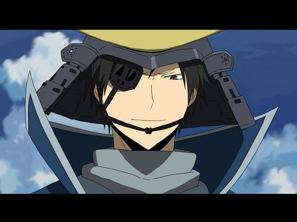 Tags: Anime, Sacchan (Hn0816), DURARARA!!, Orihara Izaya, Date Masamune (Sengoku Basara) (Cosplay), Sengoku Basara (Parody), Pixiv, Fanart, Izaya Orihara