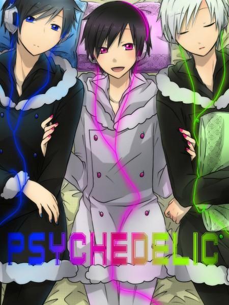 Tags: Anime, Takayan, DURARARA!!, Orihara Izaya, Psyche, Psychedelic Dreams, Pixiv, Psychedelic Blue, Fanart, Izaya Orihara