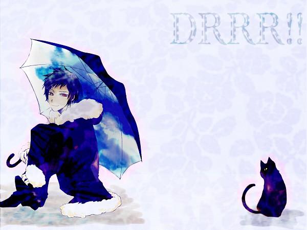 Tags: Anime, M R N, DURARARA!!, Orihara Izaya, Sky Print, Sky Umbrella, Pixiv, Wallpaper, Izaya Orihara
