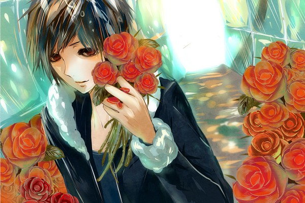 Tags: Anime, DURARARA!!, Orihara Izaya, 1200x800 Wallpaper, Wallpaper, Fanart, Pixiv, Izaya Orihara