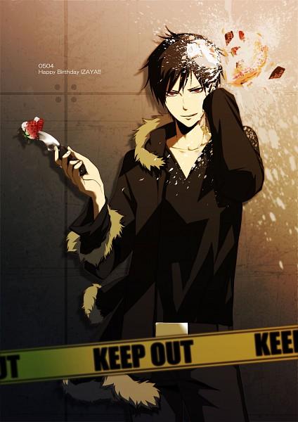 Tags: Anime, cyagama, DURARARA!!, Orihara Izaya, Crime Scene Tape, Mobile Wallpaper, Pixiv, Izaya Orihara