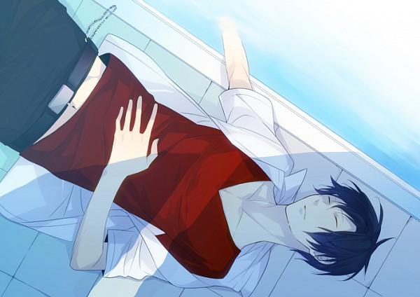 Tags: Anime, ryugo, DURARARA!!, Orihara Izaya, Hand on Stomach, Pixiv, Izaya Orihara