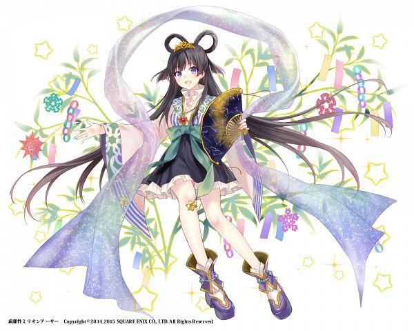 Tags: Anime, Fukahire, Kai-ri-sei Million Arthur, Orihime (Million Arthur), 1000x800 Wallpaper, PNG Conversion, Official Art