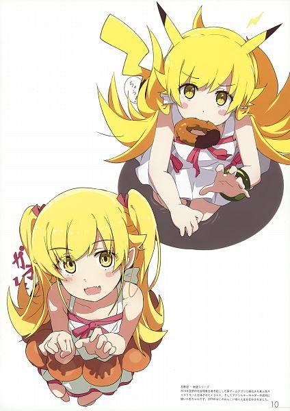 Tags: Anime, Ogipote, Monogatari, Bakemonogatari, Cue (Artbook), Oshino Shinobu, Scan