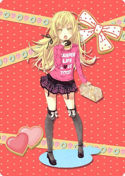 Tags: Anime, Kouji (Campus Life), Monogatari, Oshino Shinobu, Mobile Wallpaper