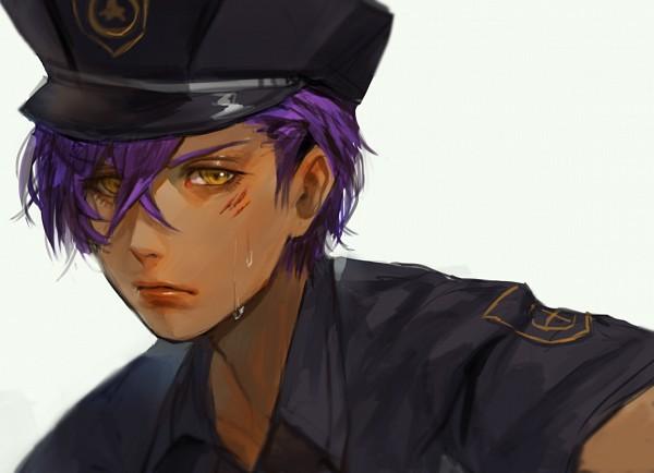 Tags: Anime, Hercrab, Ensemble Stars!, Otogari Adonis, Police Hat, Fanart, Tumblr
