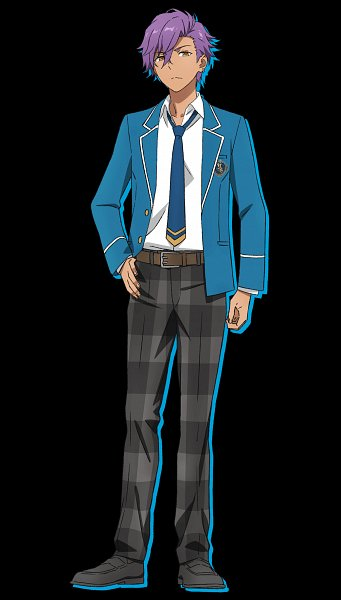 Tags: Anime, david production, Ensemble Stars!, Otogari Adonis, Checkered Pants, Emblem, Official Art, Cover Image
