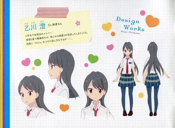 Tags: Anime, Sakai Kyuuta, Sakura Trick, Otokawa Sumi, Official Art, Character Sheet, Scan