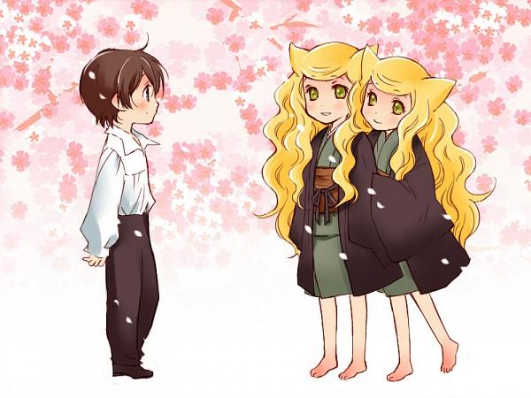 Tags: Anime, Towako, Otome Youkai Zakuro, Hanakiri Ganryuu, Bonbori (Otome Youkai Zakuro), Houzuki (Otome Youkai Zakuro), Fanart, Girl Demon Zakuro