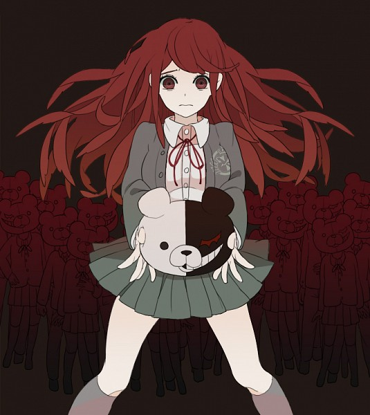 Tags: Anime, Pixiv Id 2937080, Danganronpa/Zero, Monokuma, Otonashi Ryouko, Fanart From Pixiv, Pixiv, Fanart