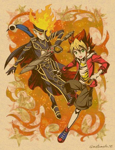 Tags: Anime, Pixiv Id 14069133, Yu-Gi-Oh! SEVENS, Yu-Gi-Oh!, Seventh Road Magician, Oudou Yuuga, Fanart, Twitter