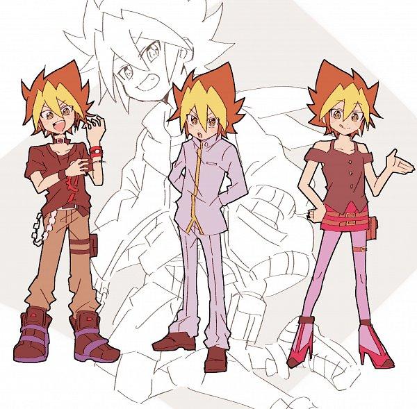 Tags: Anime, Yu-Gi-Oh! SEVENS, Yu-Gi-Oh!, Oudou Yuuga, Kirishima Romin (Cosplay), Sougetsu Gakuto (Cosplay), Kamijou Tatsuhisa (Cosplay), Twitter, Fanart