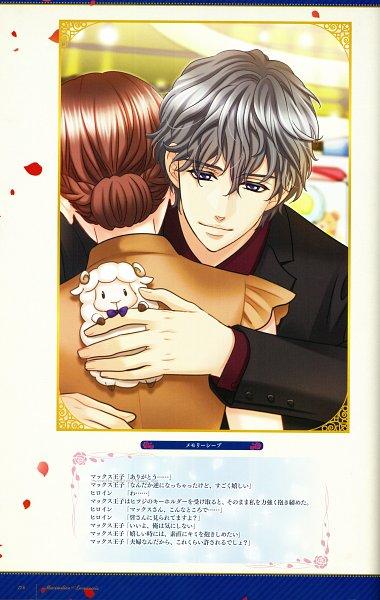 Tags: Anime, Voltage Inc. (Studio), Ouji-sama No Propose Official Visual Book, Ouji-sama no Propose, Maximilien Levaincois, Stuffed Sheep, Hair Up, CG Art, Official Art, Mobile Wallpaper, Self Scanned, Scan